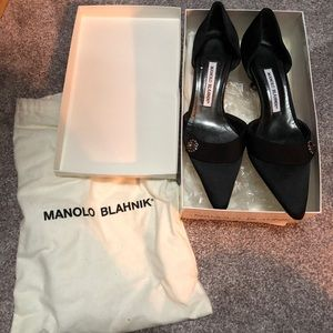 Manolo Blahnik black shoes